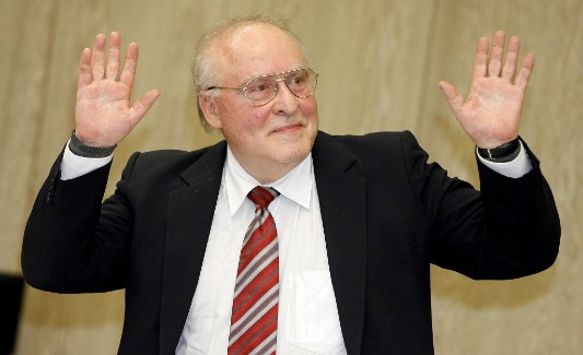 Ernst Zündel in a German courtroom