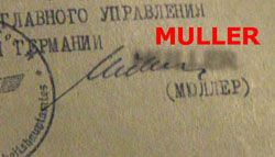A questionable Heinrich Mueller signature