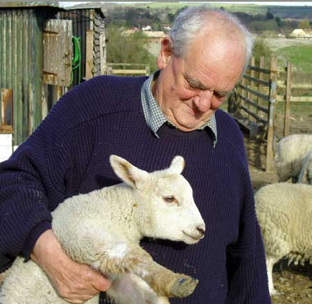 Wing Commander John Irving on his farm in Wiltshire