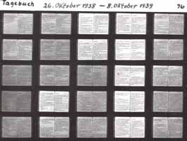 Microfiche with 25 pages of diary