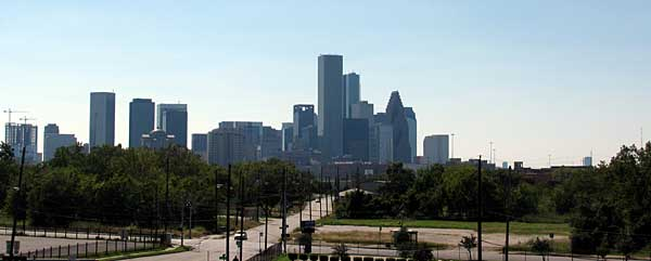 Houston Texas skyline 18.10.09